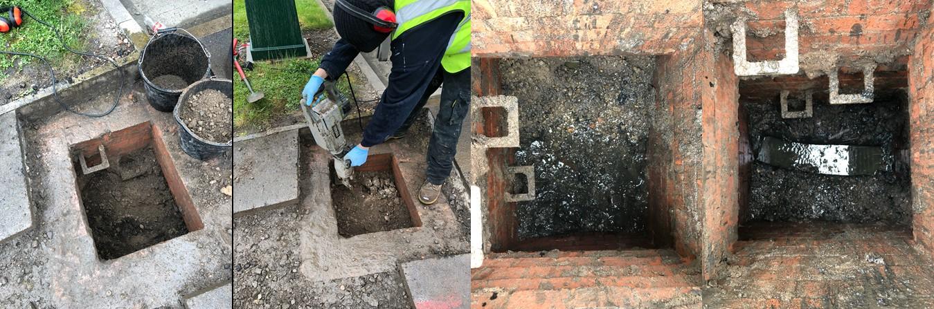 Buried manhole