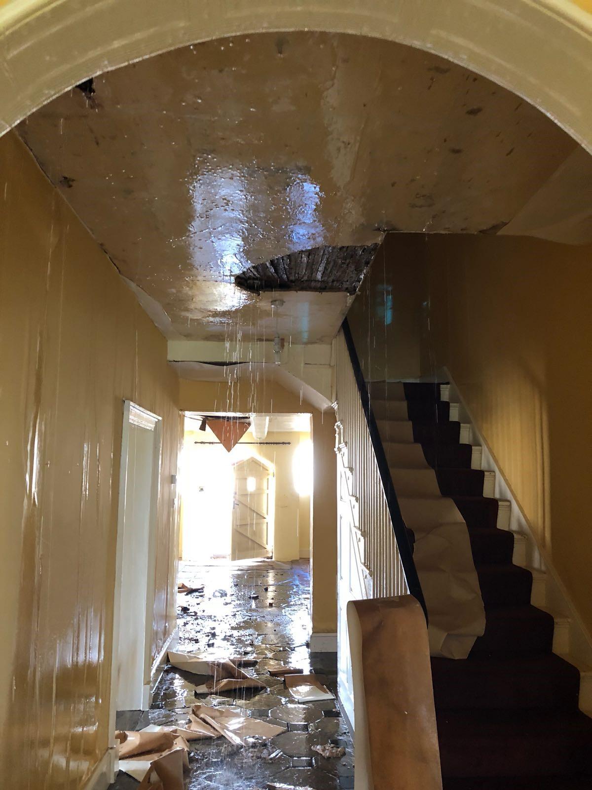 Flooded property – burst pipes